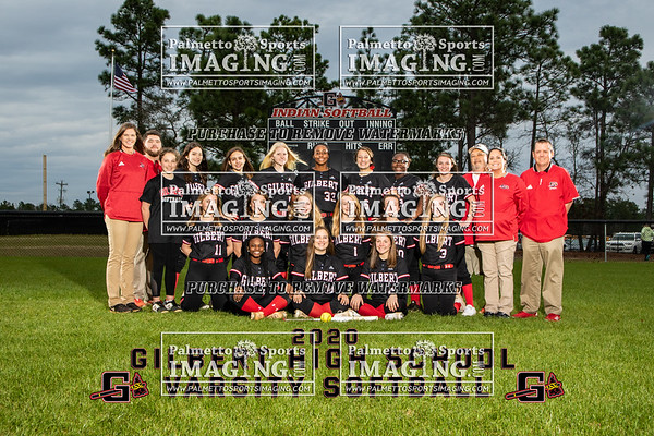 2020 Gilbert Varsity Softball Team and Individuals