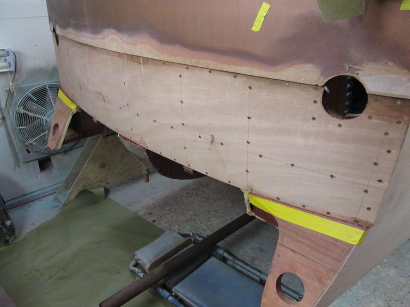 Transom plywood skin installed.