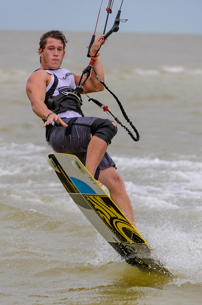 Kite Surfing in Hurricane Isaac's Approach 08/26/2012