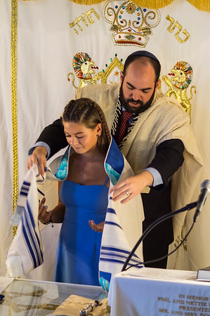 Tahnie's Bat Mitzvah Ceremony, September 22, 2018 (photos)