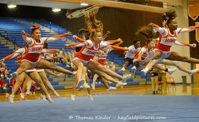 Varsity Cheer at Gunston District Semi-Finals 10/15/19