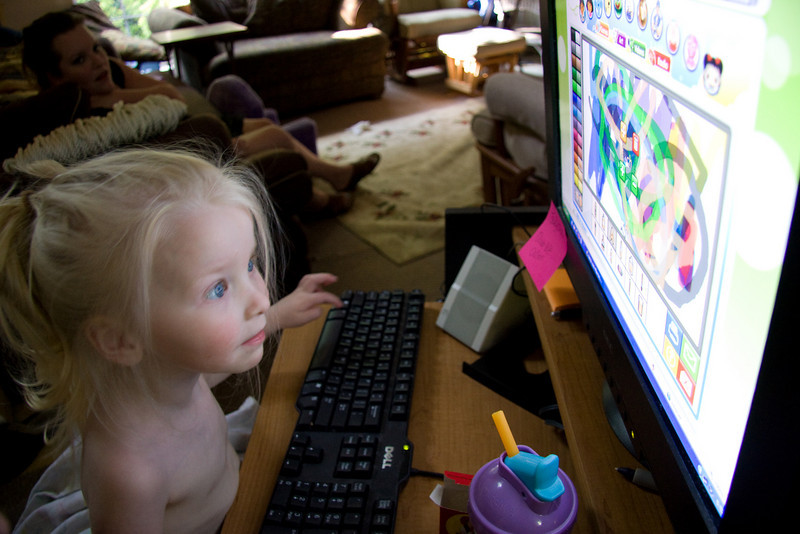 May 30th 2009 - Chloe doodles on the computer.