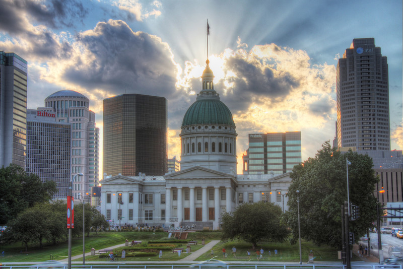 The Light of Dred Scott. (HDR) The Old Courthouse, St. Louis, MO, USA