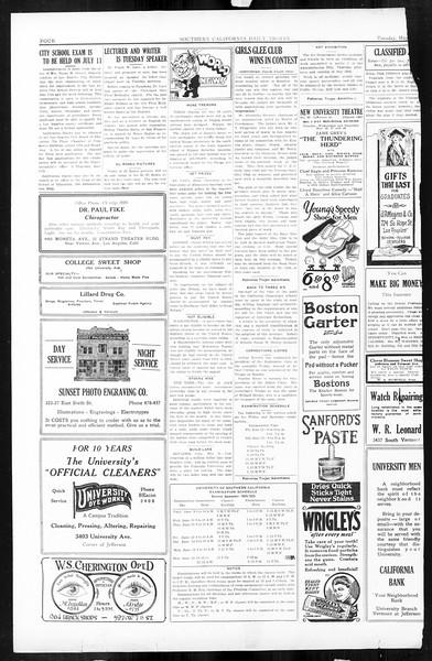 Daily Trojan, Vol. 16, No. 113, May 26, 1925