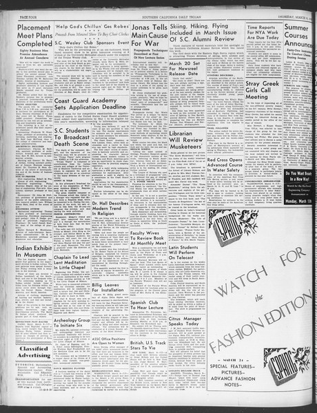 Daily Trojan, Vol. 30, No. 94, March 09, 1939