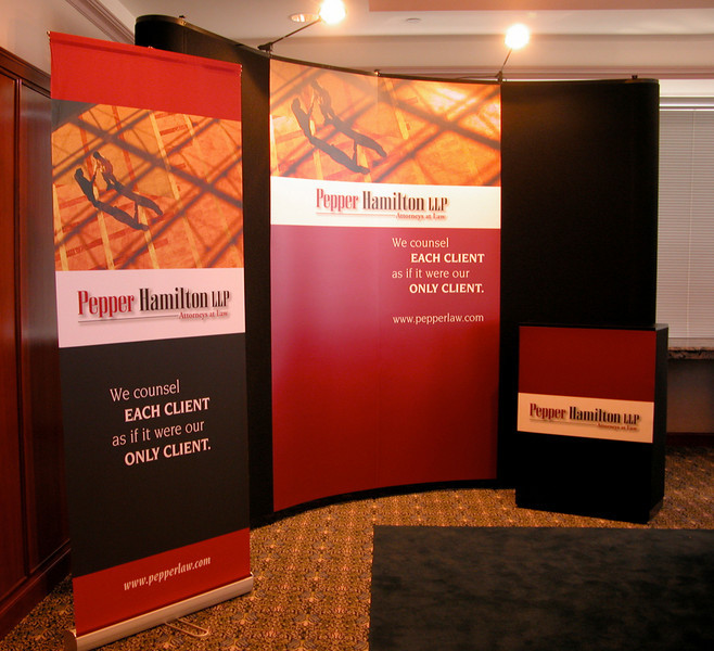 Event display materials for law firm.