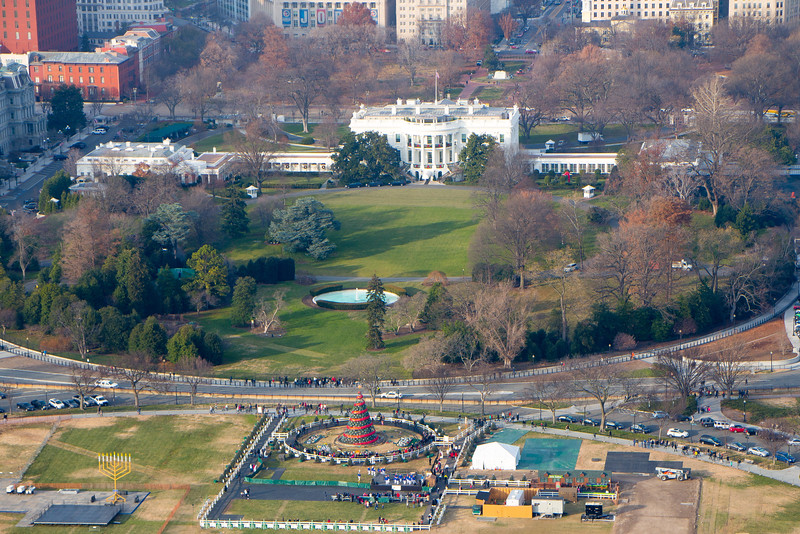 The Ellipse and National Christmas Tree from the Washington Monument