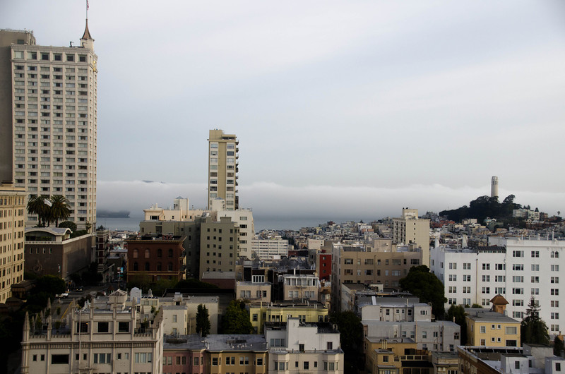 Clouds rolling in. San Francisco, CA