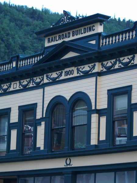 One of the restored buildings on Second Avenue in Skagway