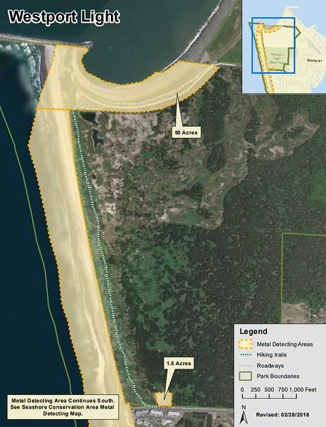 Westport Light State Park (Metal Detection Areas)