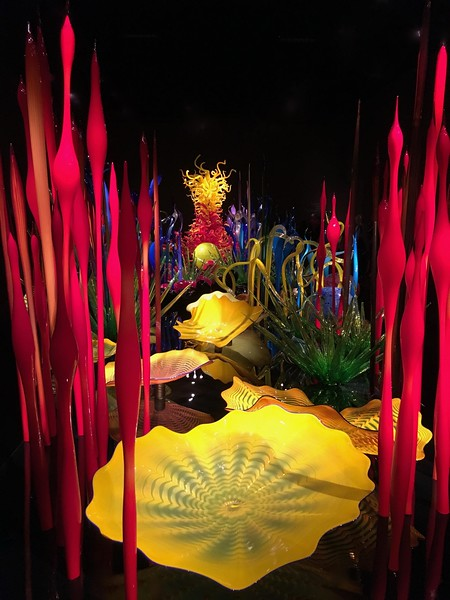 colorful chihuly glass display in Seattle
