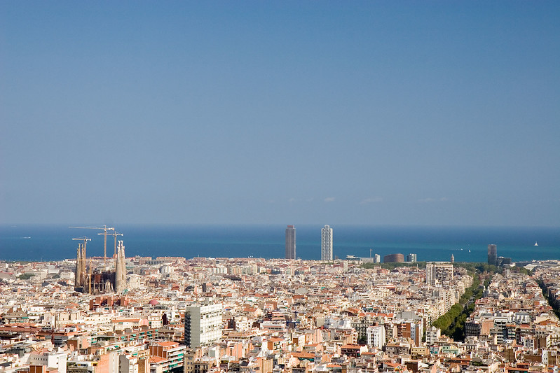 Barcelona 2006. View from Parc Guell.