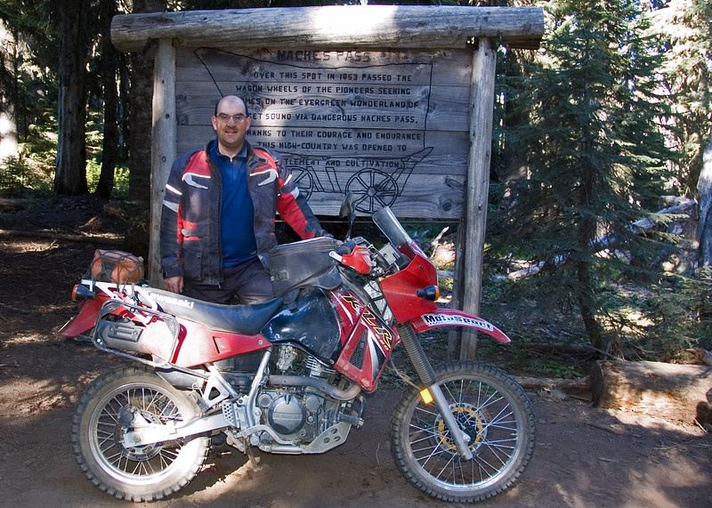 Steve and his KLR at the top of Naches.  Some guys at the top said the worst part was over.  They were lying.  I think the west section was worse than the east.