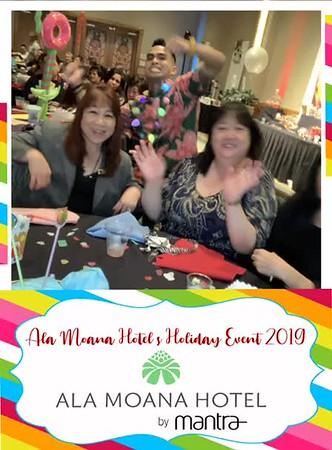 ALA MOANA HOTEL HOLIDAY PARTY 2019