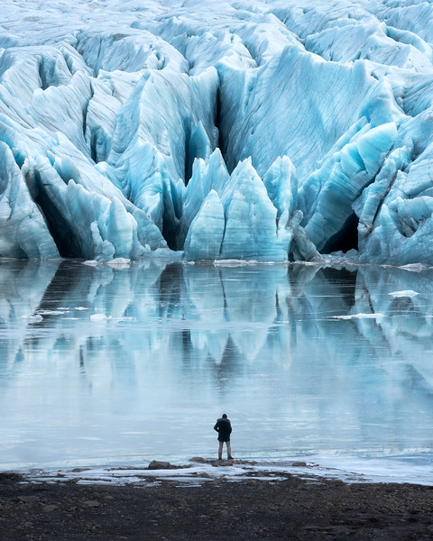 Iceland Landscape Photography glacier person epic perspective.jpg