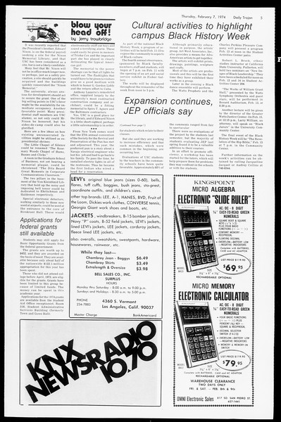 Daily Trojan, Vol. 66, No. 67, February 07, 1974