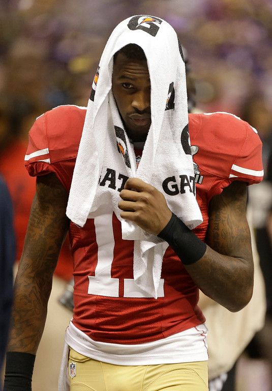 . San Francisco 49ers wide receiver A.J. Jenkins (17) walks off the field after losing 34-31 to the Baltimore Ravens in the NFL Super Bowl XLVII football game, Sunday, Feb. 3, 2013, in New Orleans. (AP Photo/Mark Humphrey)