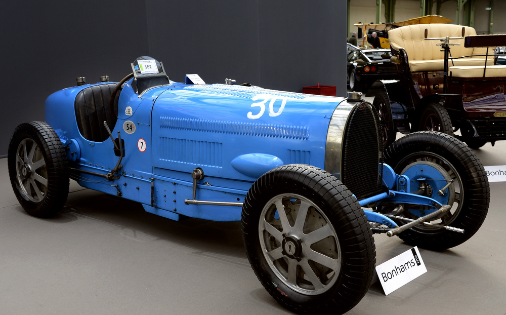 . A Bugatti type 54 Ex (1931) is pictured as luxury vintages cars are displayed at an auction at the Grand Palais on February 6, 2013 in Paris. 125 vintage motor cars, 100 collection motorbikes and a 1920\'s Gipsy Moth plane by De Havilland, will be presented at the Bonhams auction on February 7.  BERTRAND GUAY/AFP/Getty Images
