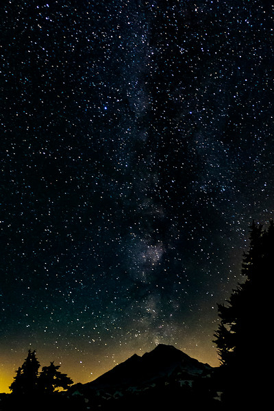 Milky Way and Mount Baker