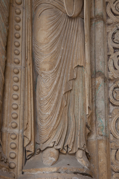 Bourges Cathedral - South Porch Jamb Figure Gown