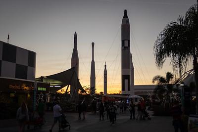 Rocket Garden at Dusk from Plaza