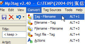 Convert Tag to File Names