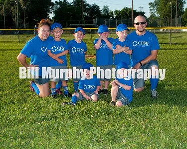 2016 3-4 Boys T-Ball Royal Blue Team