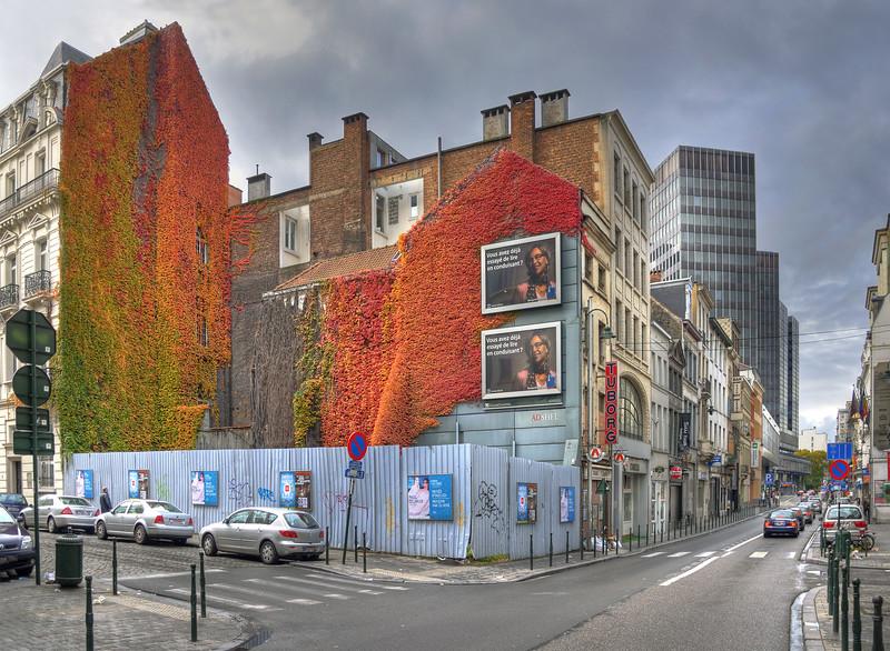 Wolvengracht at Leopoldstraat - Bruxelles, Belgium - October 31, 2010