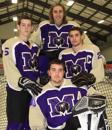 MTHS Falcon Ice Hockey Team , Senior, Captains, and Individual photos, Feb. 8th, 2011
