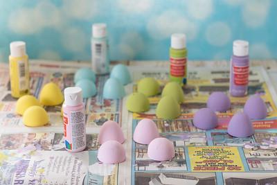 DIY Pastel Painted Speckled Easter Eggs