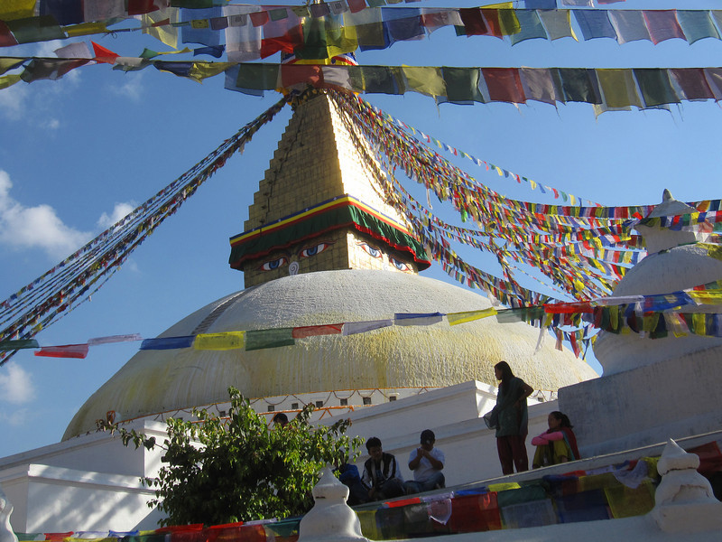 Bwong: stupa at Boudinath