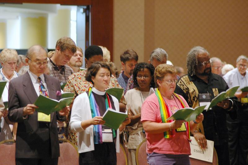 Singing of Hymns during Worship