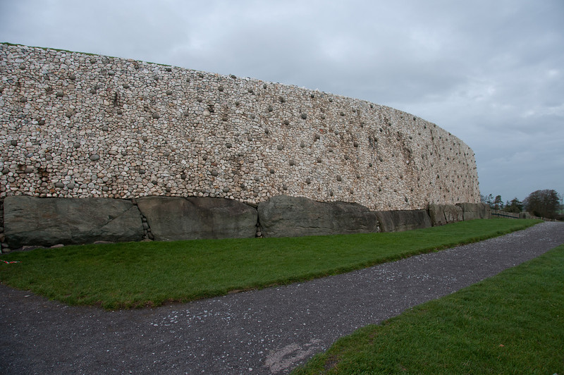 The stone walls of Newgrange in County Meath, Ireland