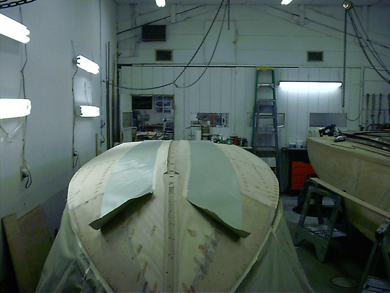 Front view before keel cap was installed.