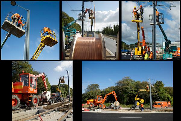 Reportage sur le chantier du Tramway à Brest.BMO