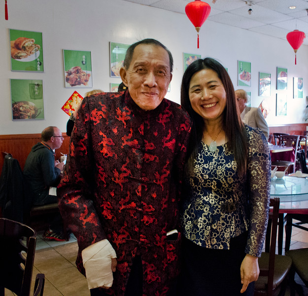 Henry Him and restaurant owner - Henry Him 80th birthday party at Dong Bei Mama Restaurant