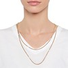 Vintage Yellow Gold Long Chain with Pearl Accents 1