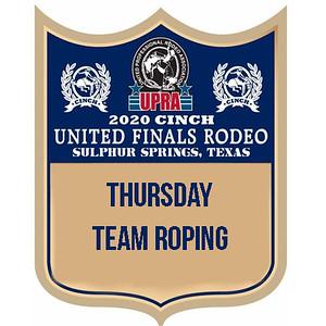 UPRA Finals Thursday Team Roping