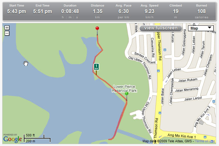 My run at runkeeper.com