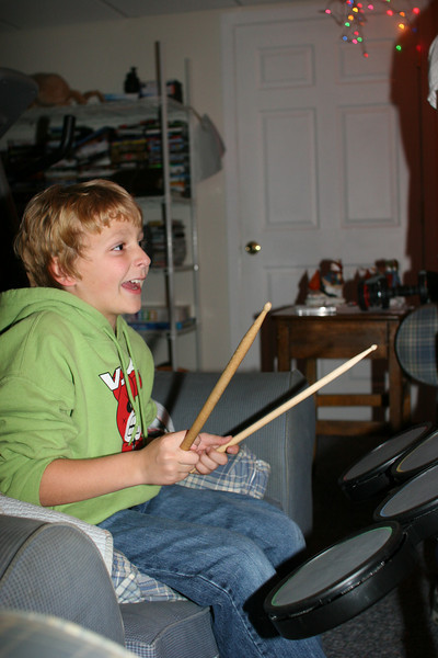 Wyatt always plays the drums