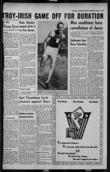 Daily Trojan, Vol. 34, No. 101, March 10, 1943