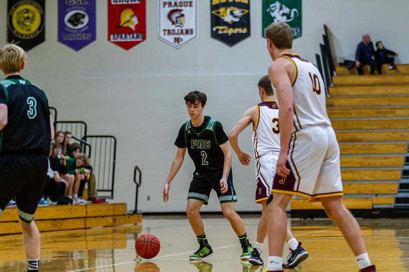 Holy Family Varsity Boys Basketball vs. Jordan, 1/23/20: Sam McNulty '20 (2)