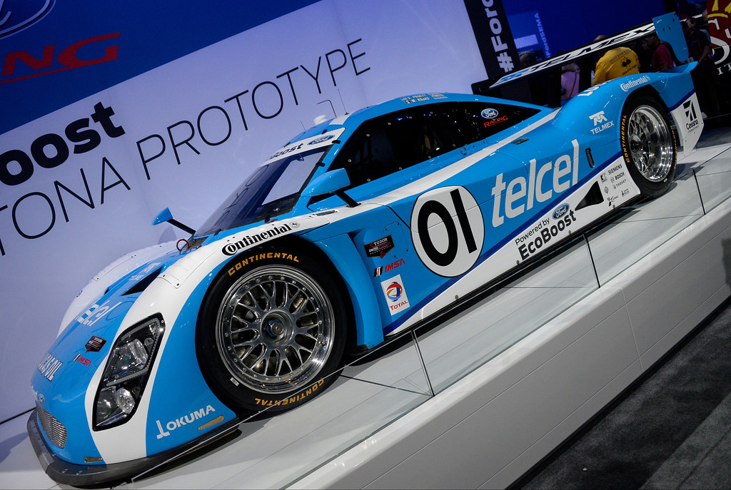 . Nov 5,2013 Las Vegas NV. USA. The new EcoBoost daytona prototype car shown for the first time by Ford, during the first day of the 2013 SEMA auto show.