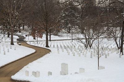 Arlington in the snow