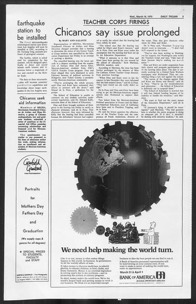 Daily Trojan, Vol. 61, No. 94, March 18, 1970