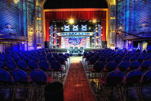 "Paramount Theater lit for  ""Americas Got Talent"""