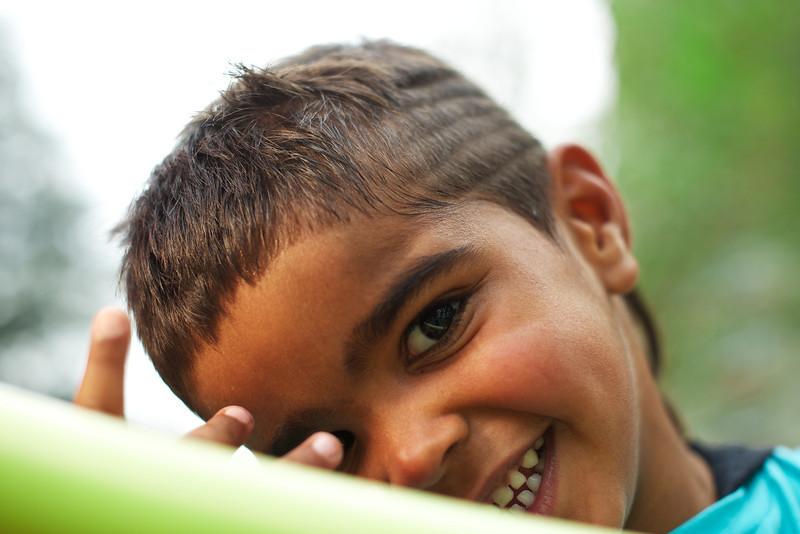 Smiling Four-Year-Old Aboriginal Boy