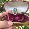 2.65ctw Victorian Turquoise and Rose Cut Diamond Tiara Bangle 21