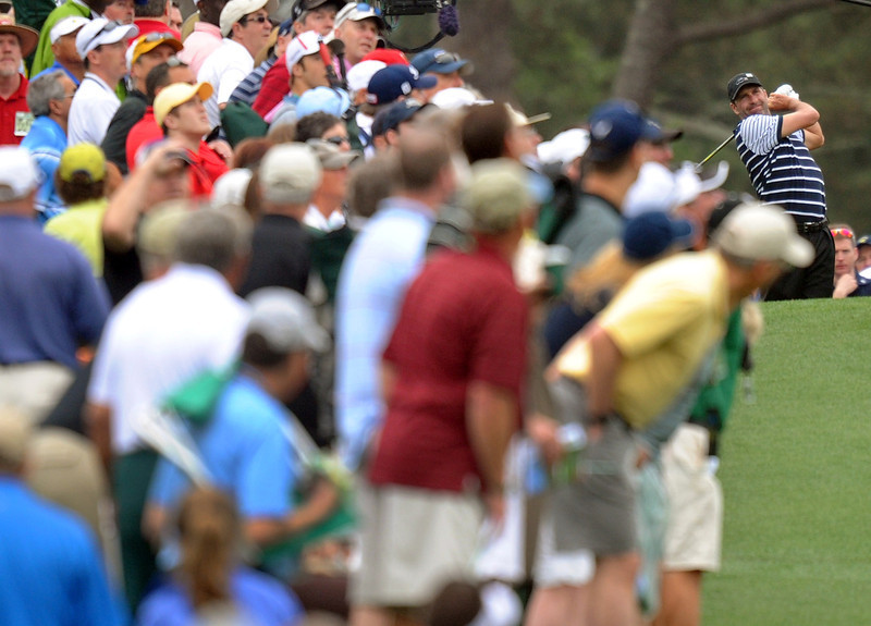 . Jose Maria Olazabal of Spain during the first round of the 77th Masters golf tournament at Augusta National Golf Club on April 11, 2013 in Augusta, Georgia.   JIM WATSON/AFP/Getty Images
