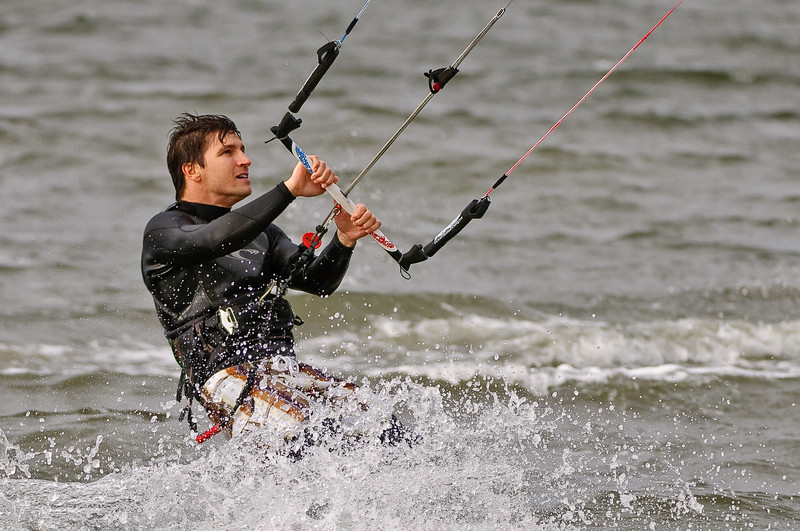 Kitesurfing off Sanibel Causeway